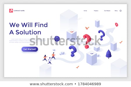 3d woman running with question mark concept Stock photo © nithin_abraham