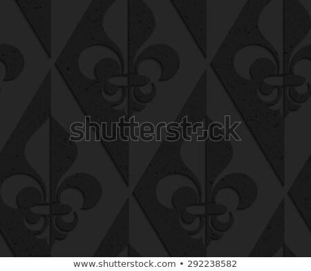 Negro plástico mitad resumen geométrico Foto stock © Zebra-Finch