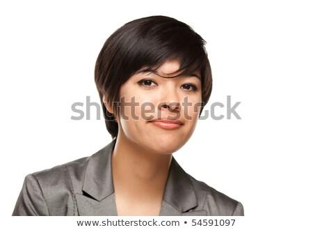 csinos · több · nemzetiségű · fiatal · felnőtt · fehér · portré · izolált - stock fotó © feverpitch