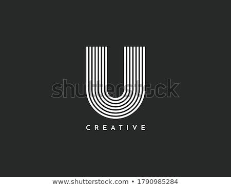 abstract vector logo letter u stock photo © netkov1