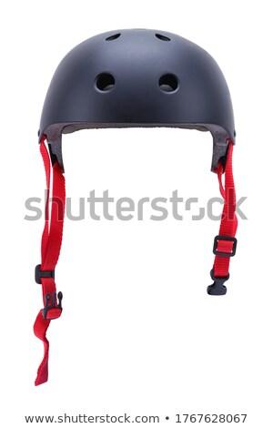 Nero bike casco isolato sport Foto d'archivio © shutswis