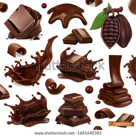 Chocolate glaze and shavings Stock photo © Digifoodstock
