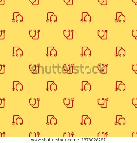 стетоскоп желтый вектора икона дизайна цифровой Сток-фото © rizwanali3d