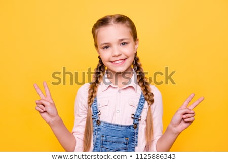 Woman in overalls kidding 2 Stock photo © Paha_L