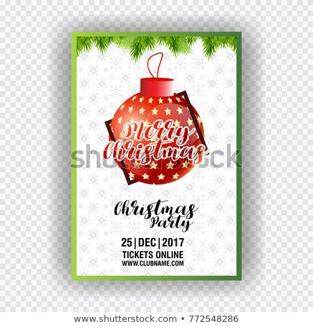 Abstract multicolored Christmas ball on black background. Vector eps10 illustration  stock photo © rommeo79
