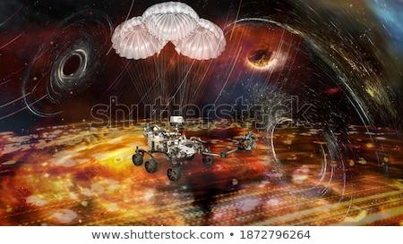 Uninhabited planet in space. Martian night Stock photo © orensila