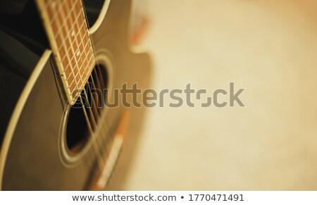 clássico · guitarra · ícone · estilo · azul · madeira - foto stock © blumer1979
