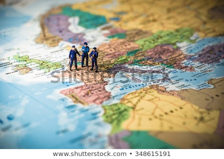 Police officers oversee the map of Europe. Stock photo © Kirill_M