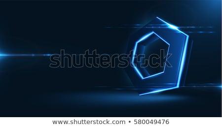 3d black blue box stock photo © romvo