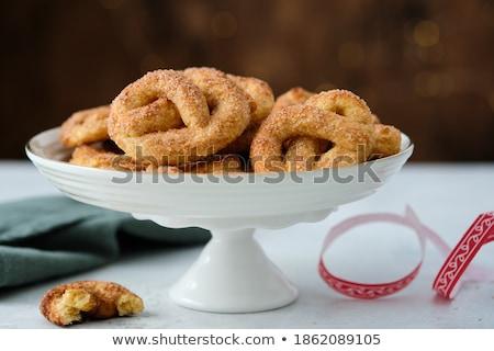 мягкой · крендельки · тмин · семян · соль · салфетку - Сток-фото © digifoodstock