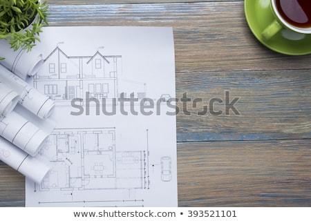 Architecte 3D travail architectural projet Photo stock © klss