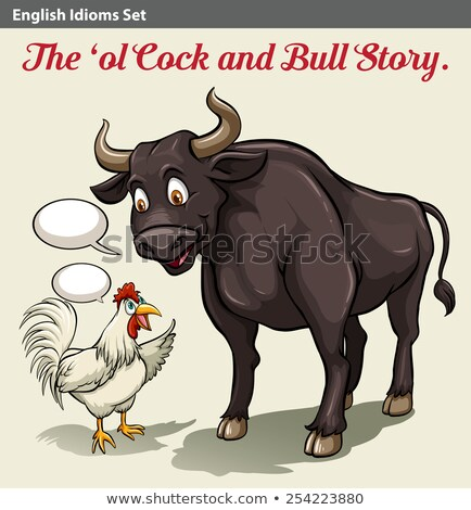 A cock and bull idiom Stock photo © bluering