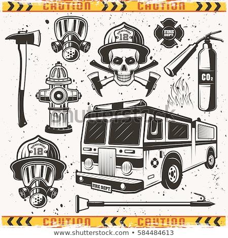 火災 · ポンプ · エンジン · 水 · 安全 · 緊急 - ストックフォト © mariephoto
