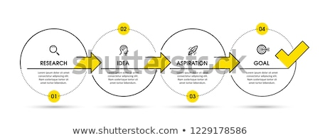 modern four steps business infographic template, can be used for Stock photo © SArts