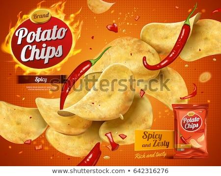 три картофельные чипсы белый никто калория закуска Сток-фото © Digifoodstock