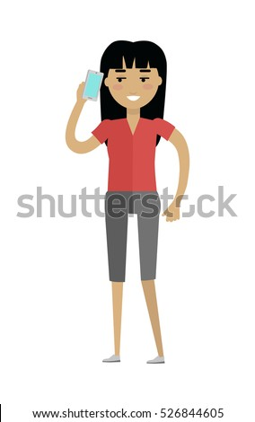 European Woman in Blouse and Breeches Speaking Stock photo © robuart
