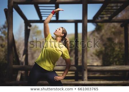 Nők testmozgás szabadtér felszerlés akadályfutás csizma Stock fotó © wavebreak_media