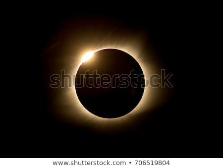 Kezdet nap fogyatkozás illusztráció égbolt nap Stock fotó © magann