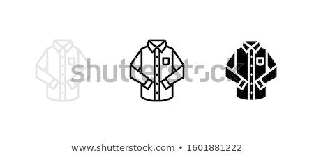 Hosszú póló vonal ikon vektor izolált Stock fotó © RAStudio