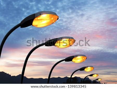 streetlight at dusk Stock photo © IS2