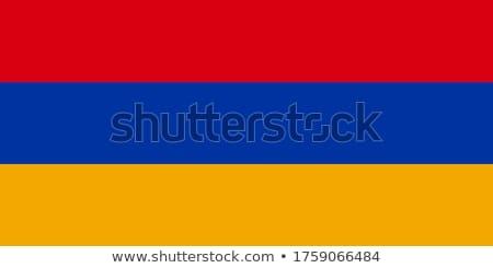 Armênia bandeira branco pintar quadro azul Foto stock © butenkow