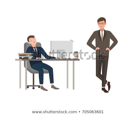 Pracownika zmęczony zły pracy biuro Zdjęcia stock © robuart