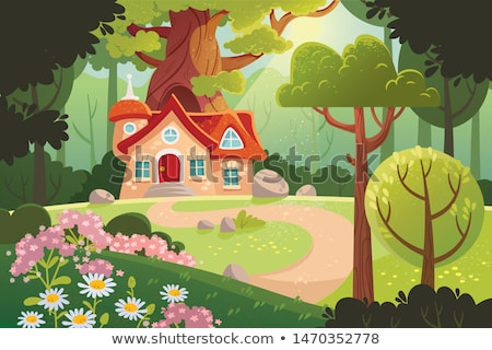 A mystery house in forest Stock photo © colematt
