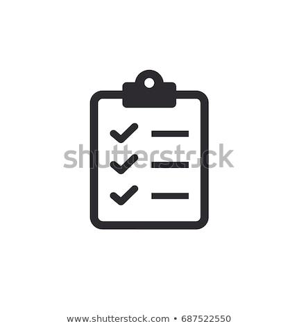 Vágólap vektor ikon vékony vonal izolált Stock fotó © smoki