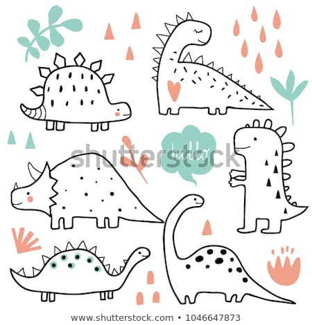Animaux dinosaures illustration fond exercice Photo stock © colematt