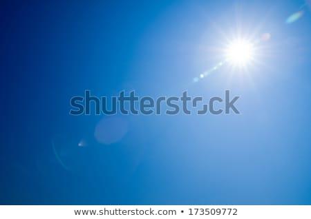 Sole raggi cielo blu bella bianco nubi Foto d'archivio © vapi