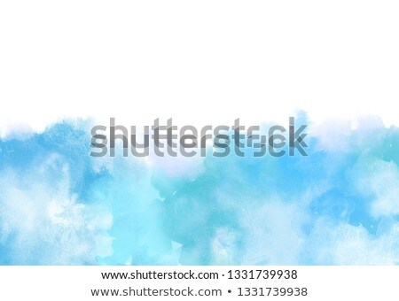 Light Blue watercolor backround isolated on white Stock photo © Taiga