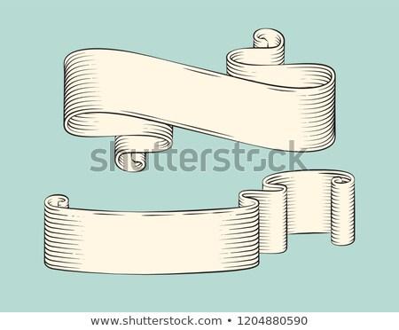 Lint swirl kleurloos banner monochroom schets Stockfoto © robuart