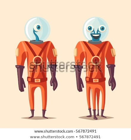 alien with friends on mars stock photo © colematt