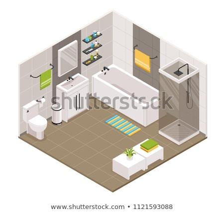 Vector isometric bathroom interior Stock photo © tele52