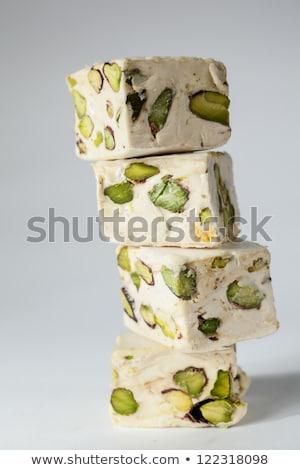 White soft nougat cubes Stock photo © Digifoodstock