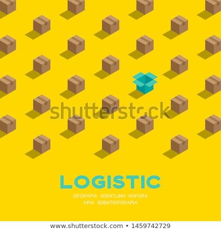 Lojistik renk izometrik simgeler eps 10 Stok fotoğraf © netkov1