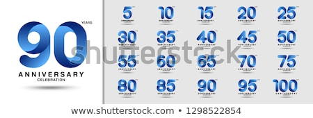 premium anniversary logotype emblem set Stock photo © SArts