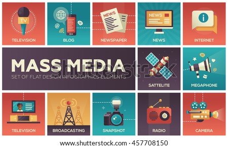 background with journalism icons stock photo © netkov1