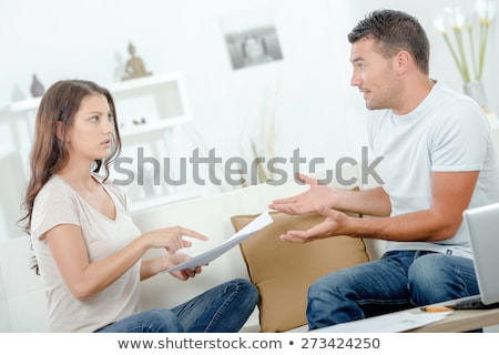 Couple Arguing Over Invoice Stock photo © AndreyPopov