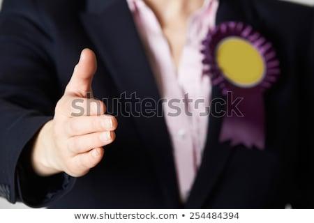 Politicus uit handen schudden man vergadering Stockfoto © HighwayStarz