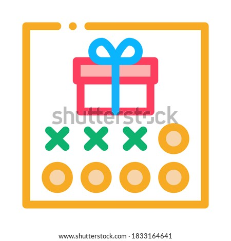 Number Needed to Receive Gift Icon Vector Outline Illustration Stock photo © pikepicture