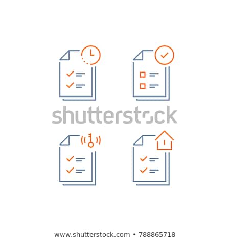 House Mortgage Service Tick Vector Thin Line Icon Stock photo © pikepicture