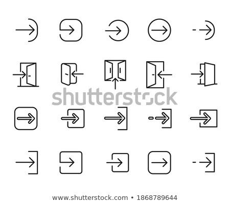 セット 単純な 白 黒 正方形 ストックフォト © karetniy