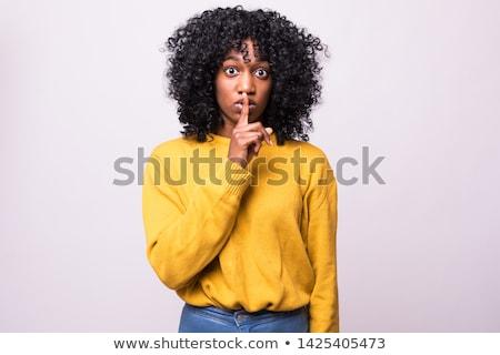 серьезный молчание жест изображение Сток-фото © deandrobot