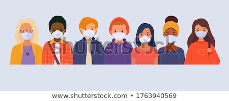 Horizontal multinacional mulheres cara médico Foto stock © robuart