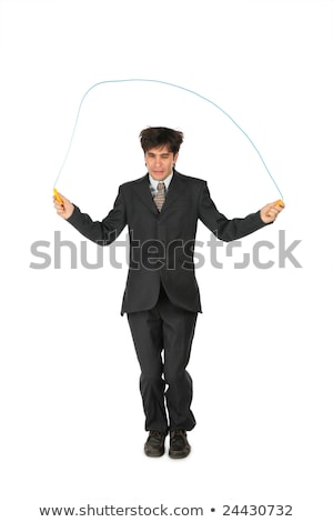 Businessman, who jumps through  jumping rope Stock photo © Paha_L