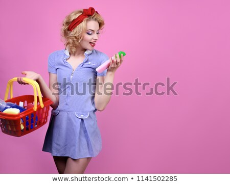 girl  in shop of household cosmetics Stock photo © Paha_L