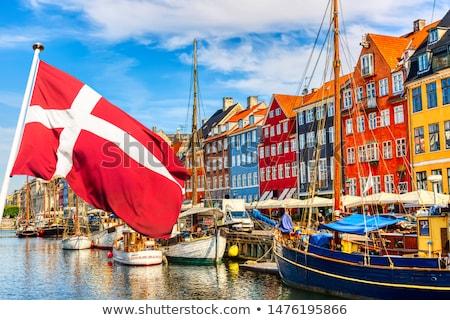 Danimarka dünya harita bayrak yer Stok fotoğraf © leeser