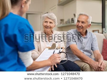 középkorú · orvos · idős · beteg · öregek · otthona · férfi - stock fotó © kurhan