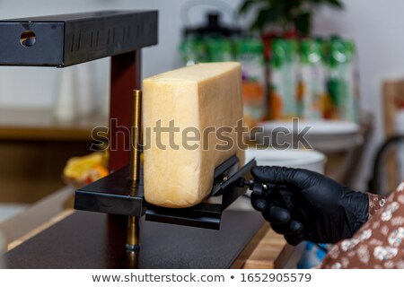 Couple using a table-top grill Stock photo © photography33